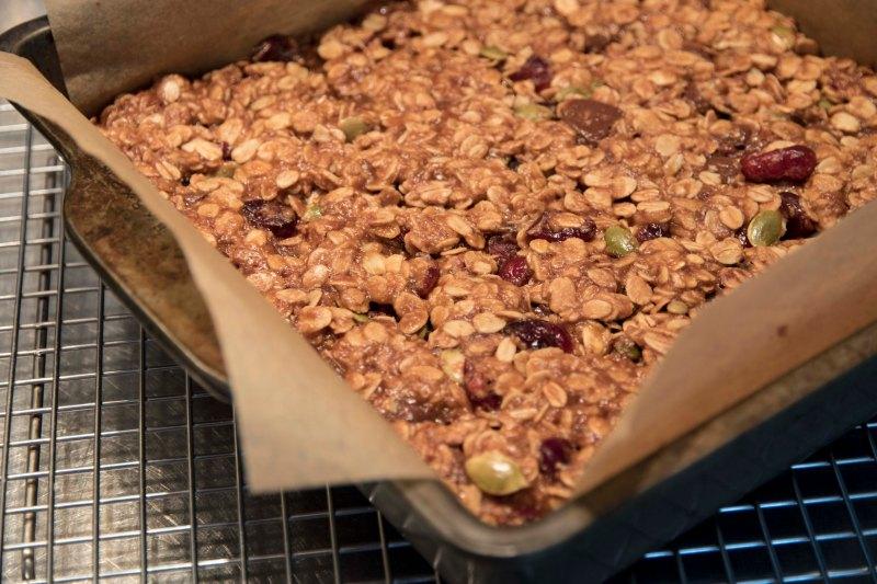 Oat Cranberry + Dark Chocolate Squares1