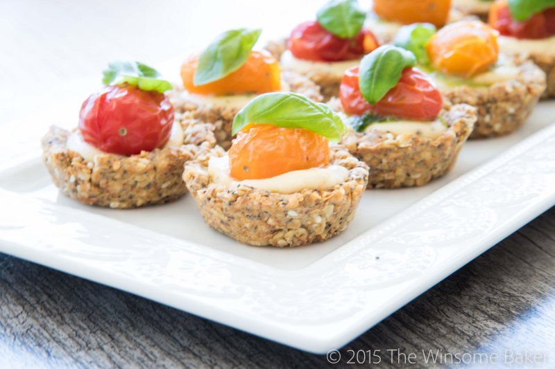 Roasted Cherry Tomato + Mascarpone Tartlets