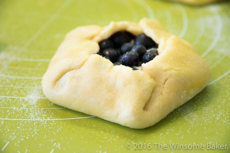 Blueberry Cream Cheese + Mint Crostatas-10