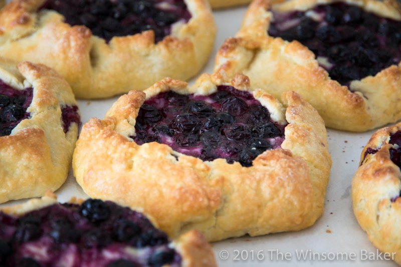 Blueberry Cream Cheese + Mint Crostatas-11