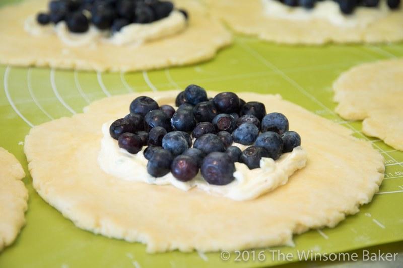 Blueberry Cream Cheese + Mint Crostatas-8