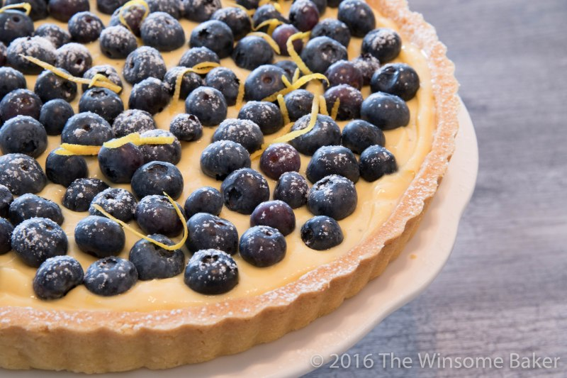 Blueberry + Lemon Custard Tart
