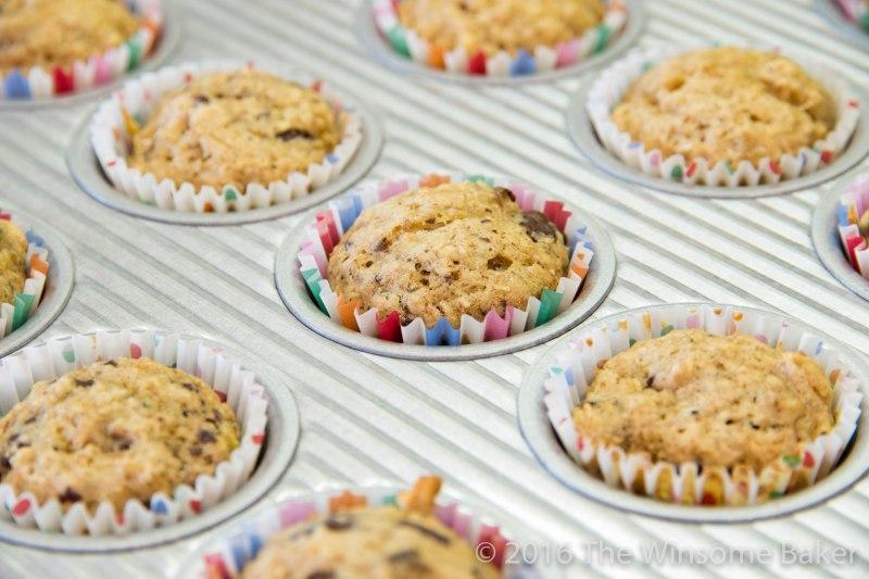 Better Banana + Chocolate Chip Muffins -7